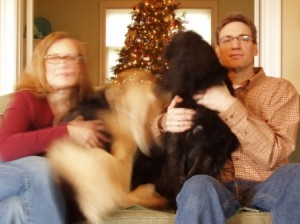 blurry Christmas family - 2009