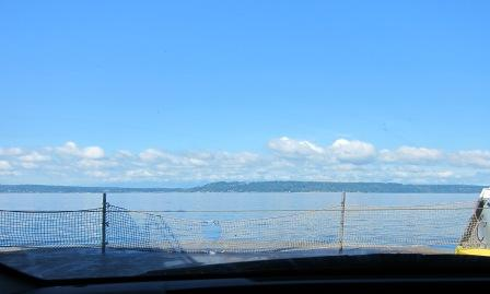 view from car (on ferry)